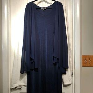 Slinky Brand Navy Blue Dress Size 2X